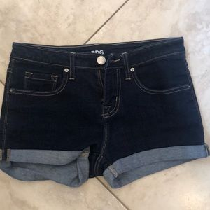 Brand new dark jean shorts